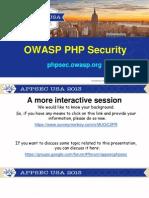 PHPSEC Presentation Slides