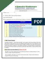 Communication -Advisory for Feb 8, -2014
