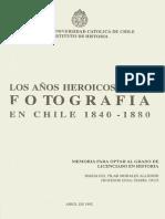 Los años heroicos de la fotografía en Chile