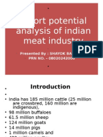 Export Potential Analysis of Indian Meat Industry