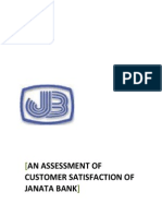 INTERNSHIP REPORT on Customer Satisfaction of Janata Bank