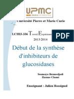 Début de la synthèse d'inhibiteurs de Glucosidases