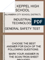 Safety Presentation 2001questions