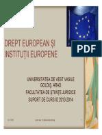 Drept European - Suport de Curs 2013-2014