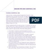 Guidelines for Using Audiovisual Aids