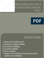 Characteristics of a Good Psychological Test-santos