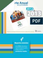 Reporte Anual de actividades 2012 y 2013