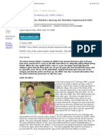 BURMA_ Three Children Among Six Females Imprisoned With Hard Labour
