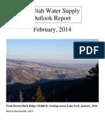 Utah Water Supply Outlook, February 2014