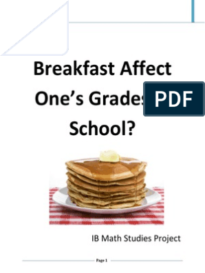 does eating breakfast affect one grades trial final   Data