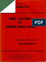 Cinco lecciones de Joaquín García Monge(1)