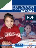 Plan de Implementacion Estrategica de Educacion 2012-2016