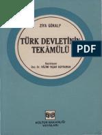 Ziya Gökalp - Türk Devletinin Tekamülü - Kültür Bakanlığı, 1. Basım, 1981