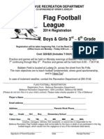 2014 Youth Flag Football Registration
