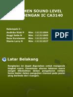 Instrumen Sound Level Meter Dengan Ic Ca3140