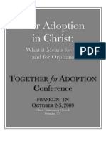 Our Adoption in Christ:
