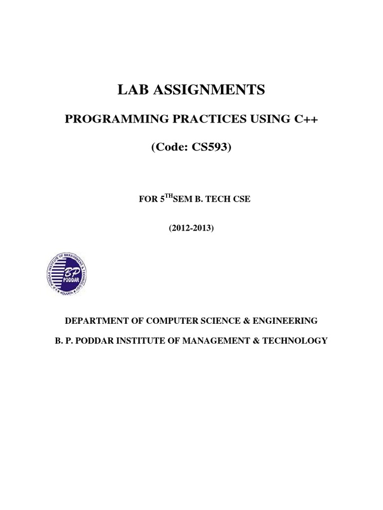 Cs593 Lab Assignments | C++ | Constructor (Object Oriented Programming)