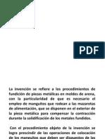 PROCEDIMIENTO DE OBTENCIÓN DE UNA PIEZA METÁLICA