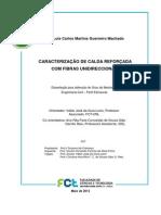 CARACTERIZAÇÃO DE CALDA REFORÇADA COM FIBRAS UNIDIRECCIONAIS