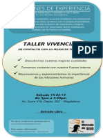 REUNIONES DE EXPERIENCIA y  taller Vivencial Febrero