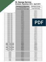 UTM Shuttle Bus 2013-2014 Regular Schedule