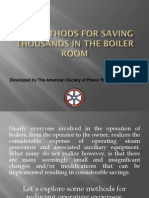 Boiler Room Savings