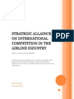 Strategic Allaince on International Competition in the Airline Industry