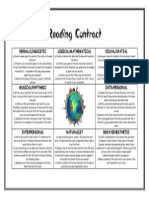 Reading Contract Multiple Intelligences
