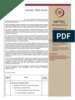 Syllabus Adaptive Filter Theory