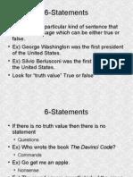 6 Statements