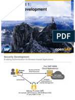 OpenSAP HANACLOUD1 Week 04 User Authentication and Security