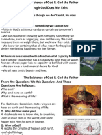 Existence of God & God the Father