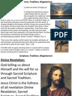 Scripture, Tradition, Magisterium