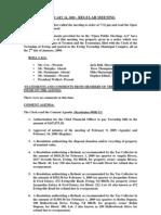 2009-02-24 Regular Agenda Session Minutes