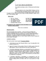 2009-04-14 Regular Agenda Session Minutes