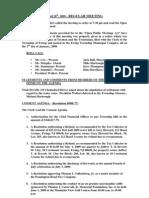 2009-04-28 Regular Agenda Session Minutes