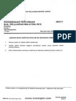 SPM Trial Exam 2010 Johor Paper 1