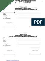 Formulir Seleksi KPU Sumbar