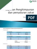 Laporan Penyaluran Zakat Desember 2013