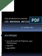 LES NOUVEAUX ANTICOAGULANTS OCTOBRE 2012.pptx