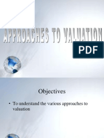 Appraoches to Valuation 1
