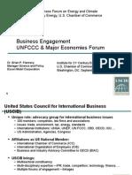 Business Engagement UNFCCC & Major Economies Forum