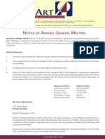 ARTD Notice of Annual General Meeting
