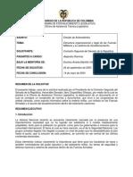 015 Estructura Organizacional y Legal de La Fuerzas Militares