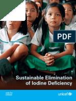 Sustainable Elimination of Iodine Deficiency Unicef