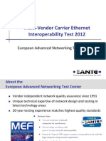 Multi-Vendor Carrier Ethernet Interoperability Test 2012