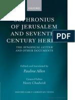 Allen - Sophronius of Jerusalem and Seventh Century Heresy.pdf