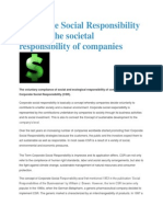 corporate social responsibilities
