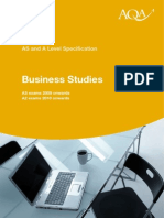 aqa business specification