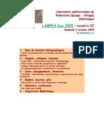 LAMPEA-Doc 2009 – numéro 32 / Vendredi 2 octobre 2009
